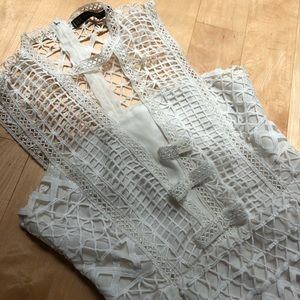 Zara lace white dress